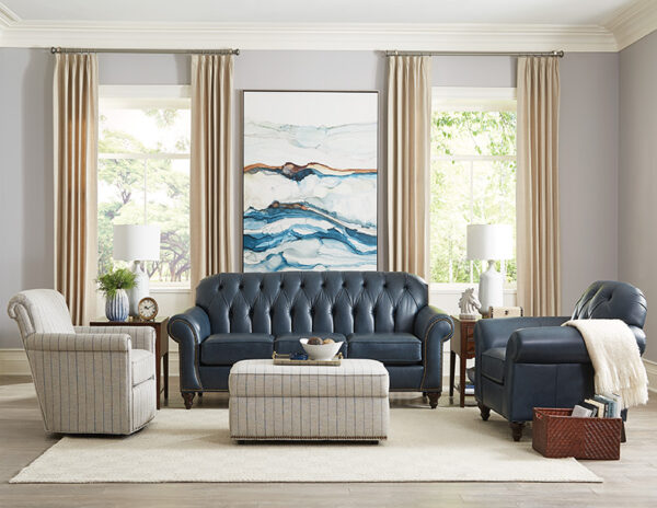 Evan Leather Sofa Collection