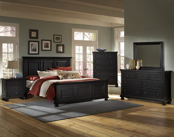 Reflections Black Bedroom Collection