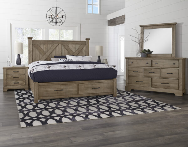 Cool Rustic Stone Grey Bedroom Collection