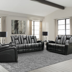 Prime Black Reclining Sofa